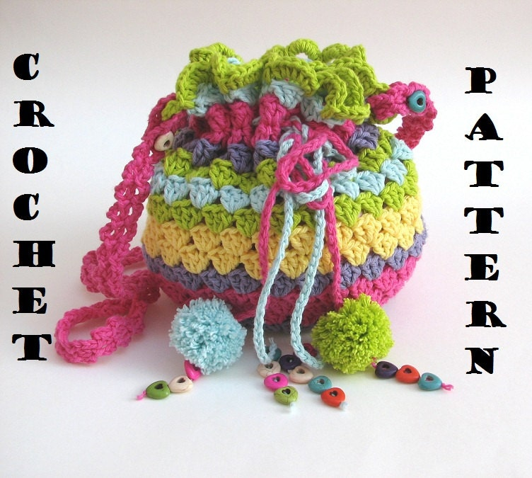 Crochet Flower Pattern Crochet Bags Patterns For