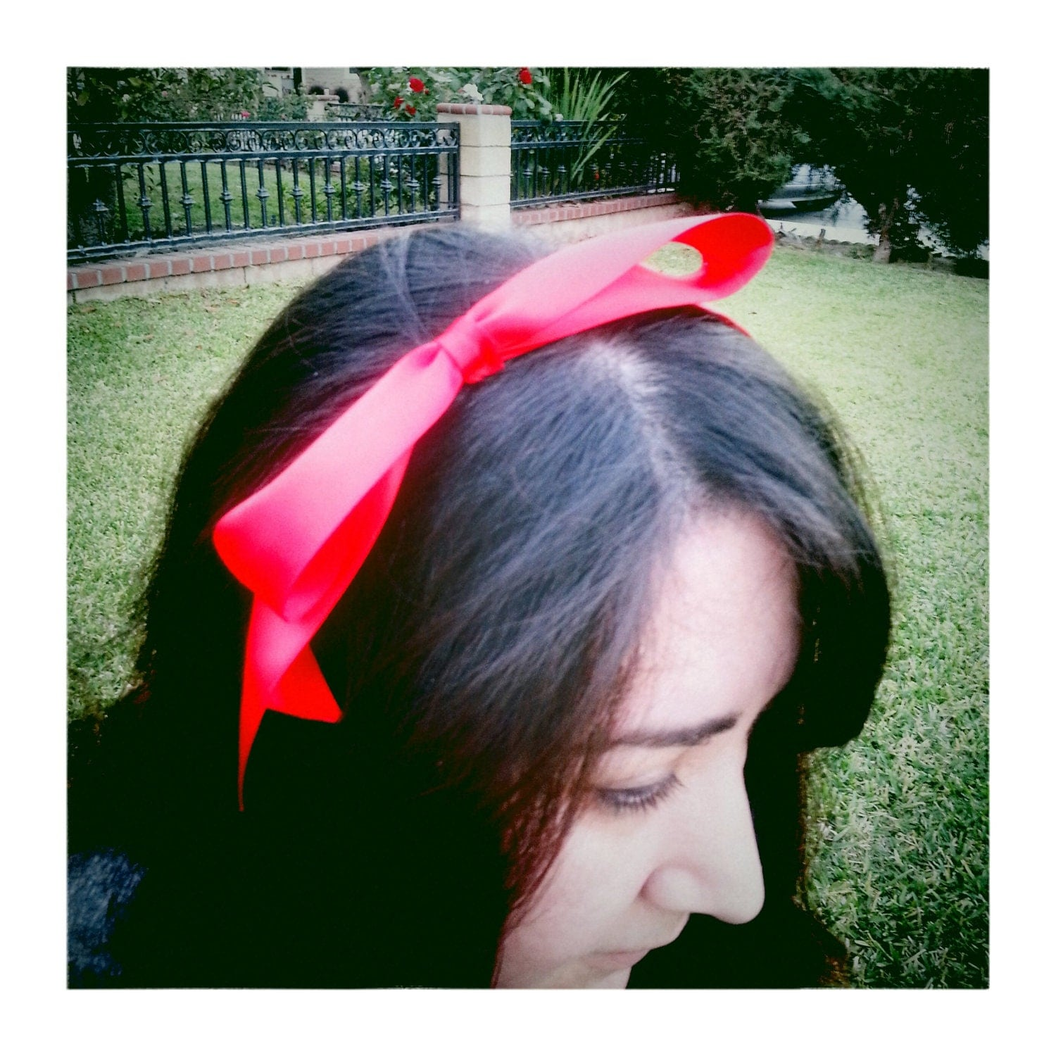 Snow White--Red bow headband