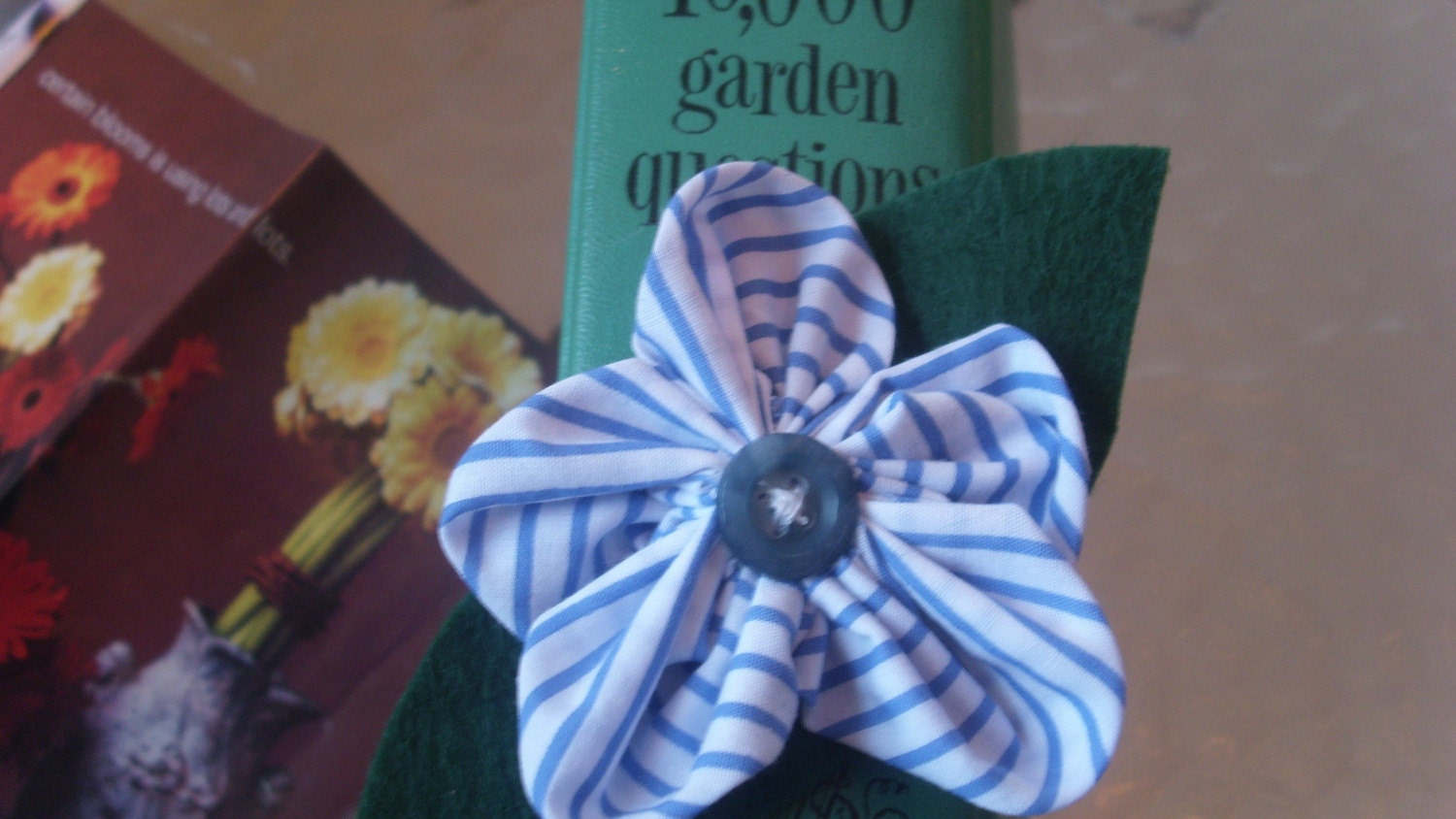 Flower Power Magnet-Blue Stripe