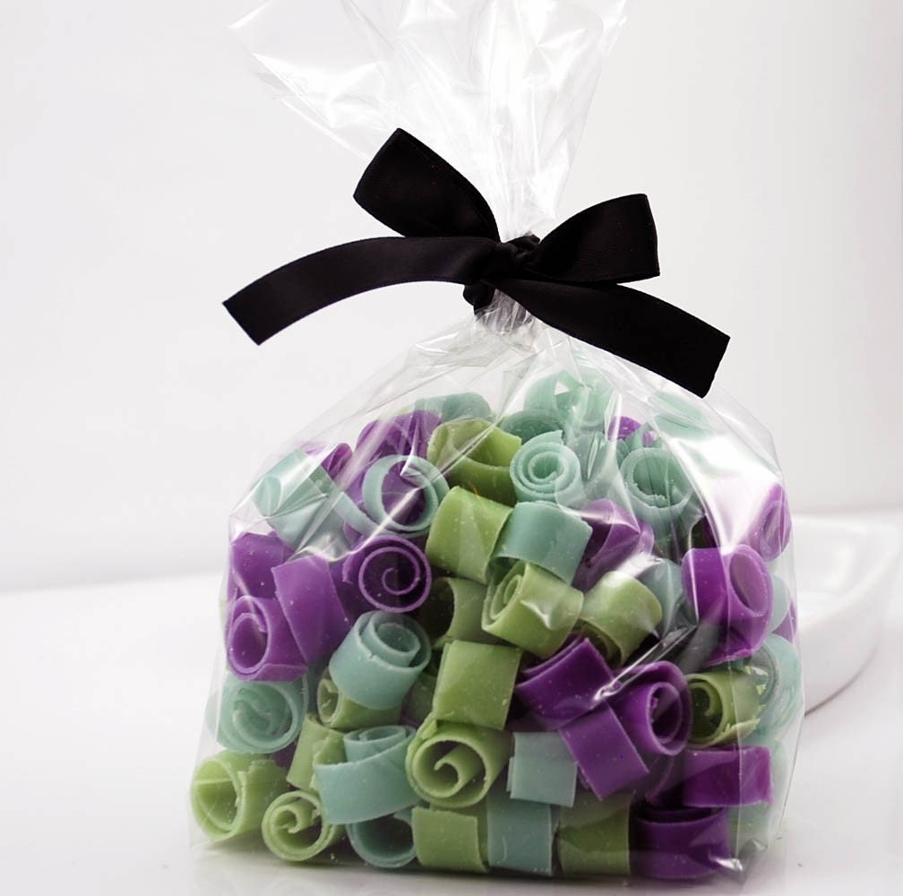 Soap Confetti, Unscented Cold Process Soap in Rainforest Color Blend
