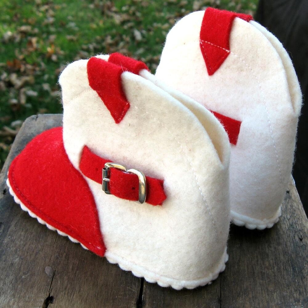 Vintage Cowboy Baby Booties - Never Worn