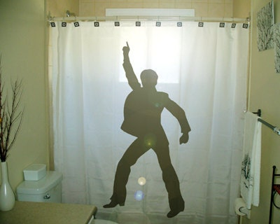 Man Dance Disco Shower Curtain Retro By CustomShowerCurtains
