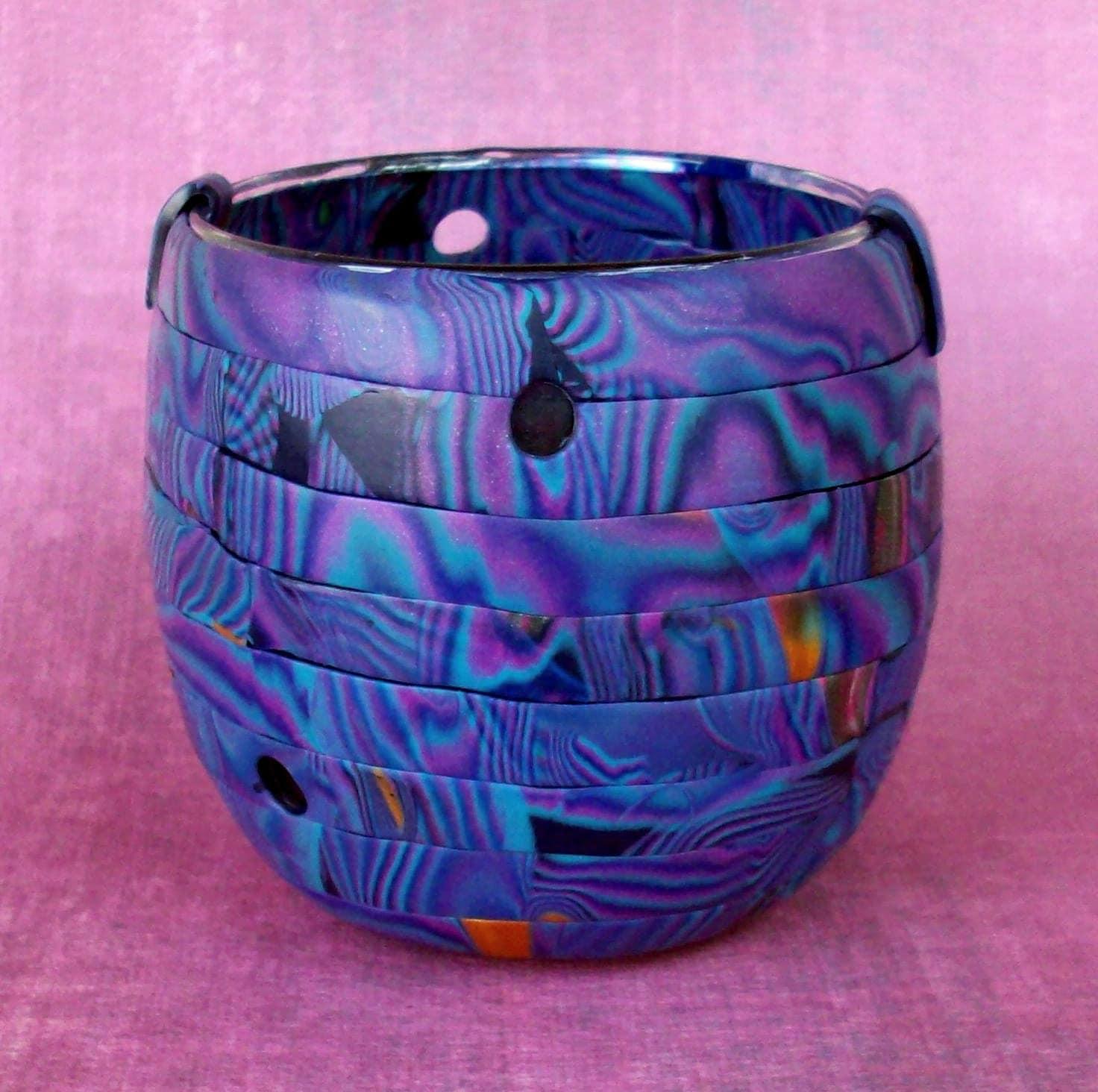 Mokume Gane Vase or Candleholder