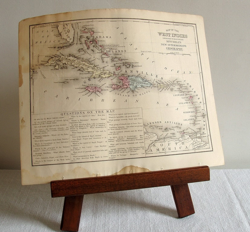 antique West Indies map - EmilyLynch