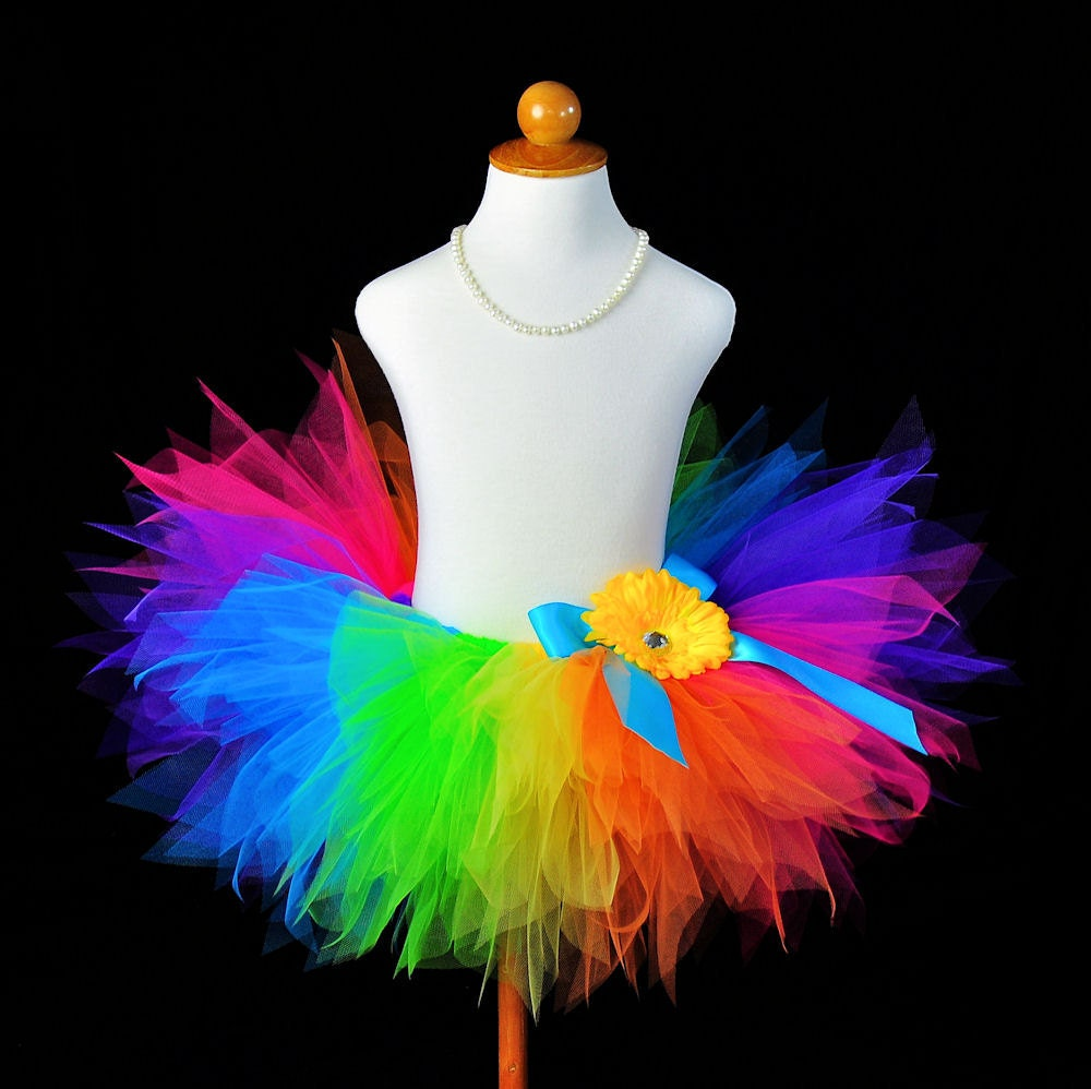 Rainbow Pixie Tutu...Birthday Tutu, Photo Prop, Pageant, Dance Recital...Sizes 12 Months 2T 3T 4T 5/6 . . . PIXIE CANDY RAINBOW - TutuGorgeousGirl
