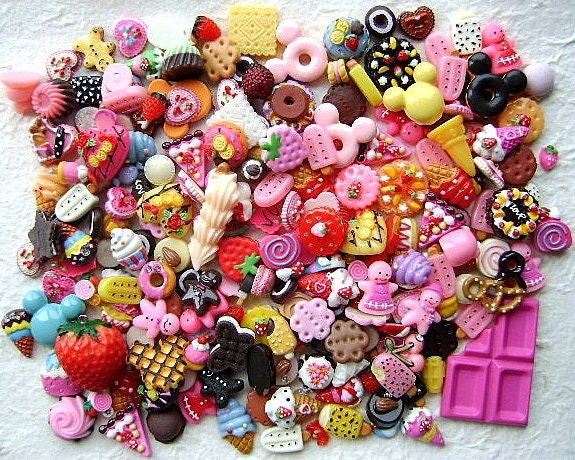 WHOLESALE Cute Japanese 200 Cabochons Sweets Only BIG Set Mix SET 2