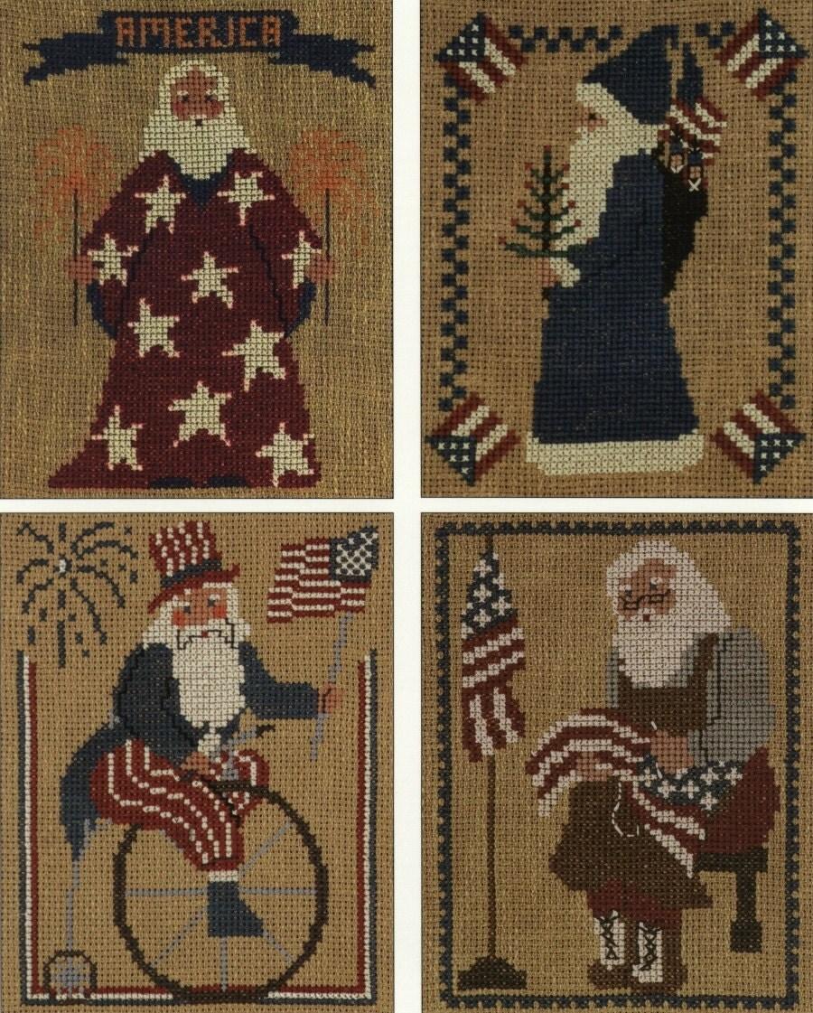 Jan Hagara Cross Stitch: Homespun Collectibles Counted Cross Stitch By Straphaelwomen