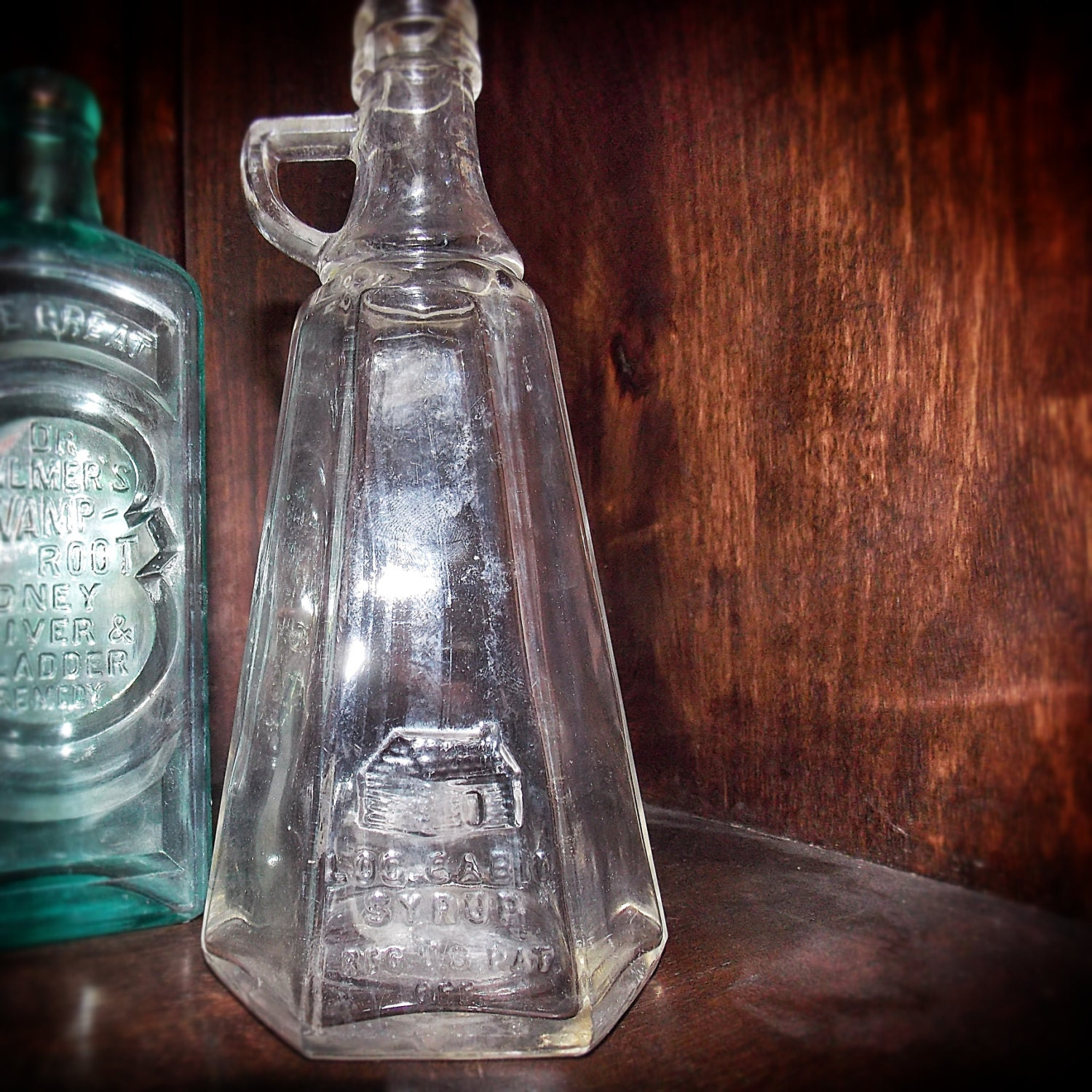 Log Cabin Syrup Glass Bottles : Etsy your place to buy and sell all things handmade