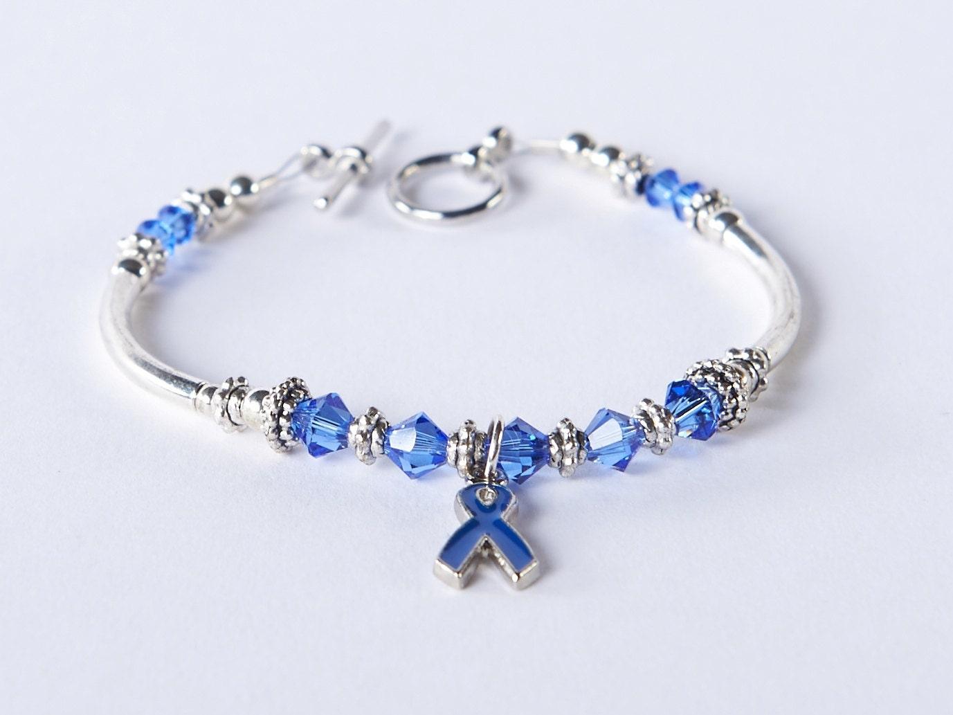 colon cancer cancer awareness bracelet 9 by silveradojewelry