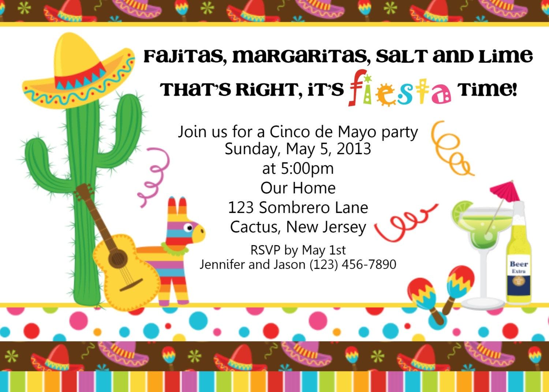 Fiesta Cinco de Mayo Invitation by afairytalebeginning on Etsy