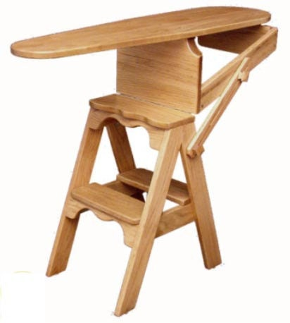 The Jefferson Bachelor Chair Step Stool Ironing Board