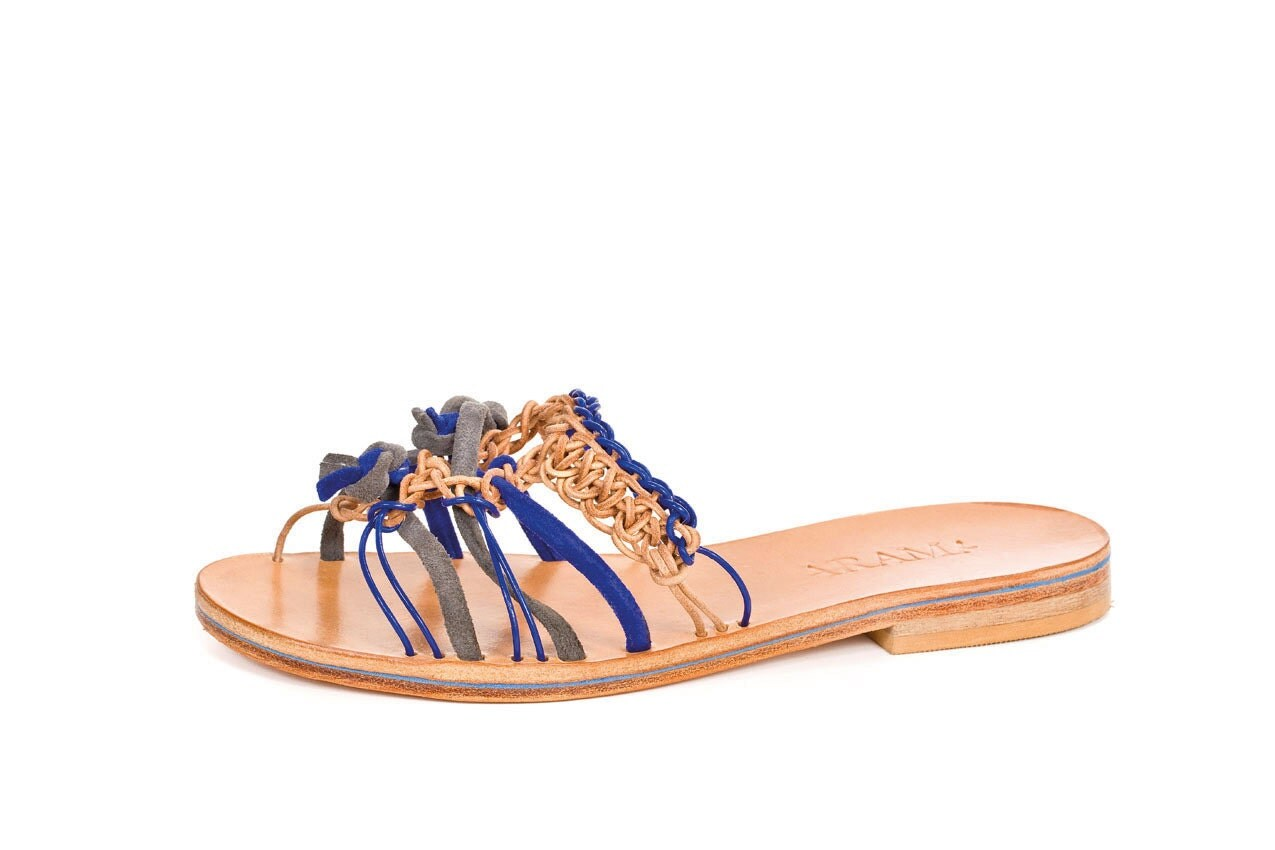 Valentine up to 20% off Last Pair! Slip on womens sandals - Tanzanite Sandal - ARAMAshoes