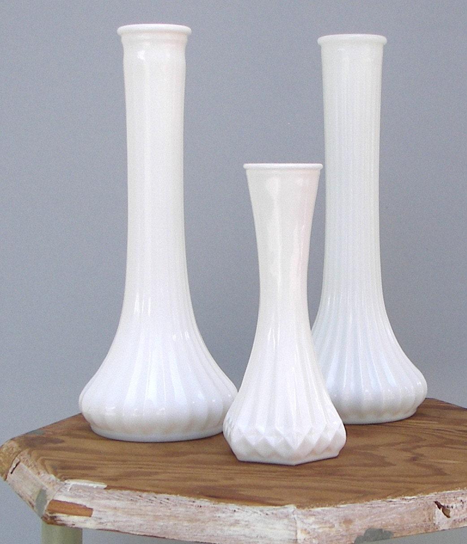 vintage hoosier milk glass bud vase collection by fancyfigleaf. Black Bedroom Furniture Sets. Home Design Ideas