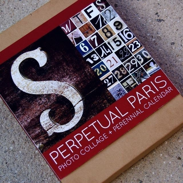 Perpetual Paris - Photo Collage and Perennial Calendar