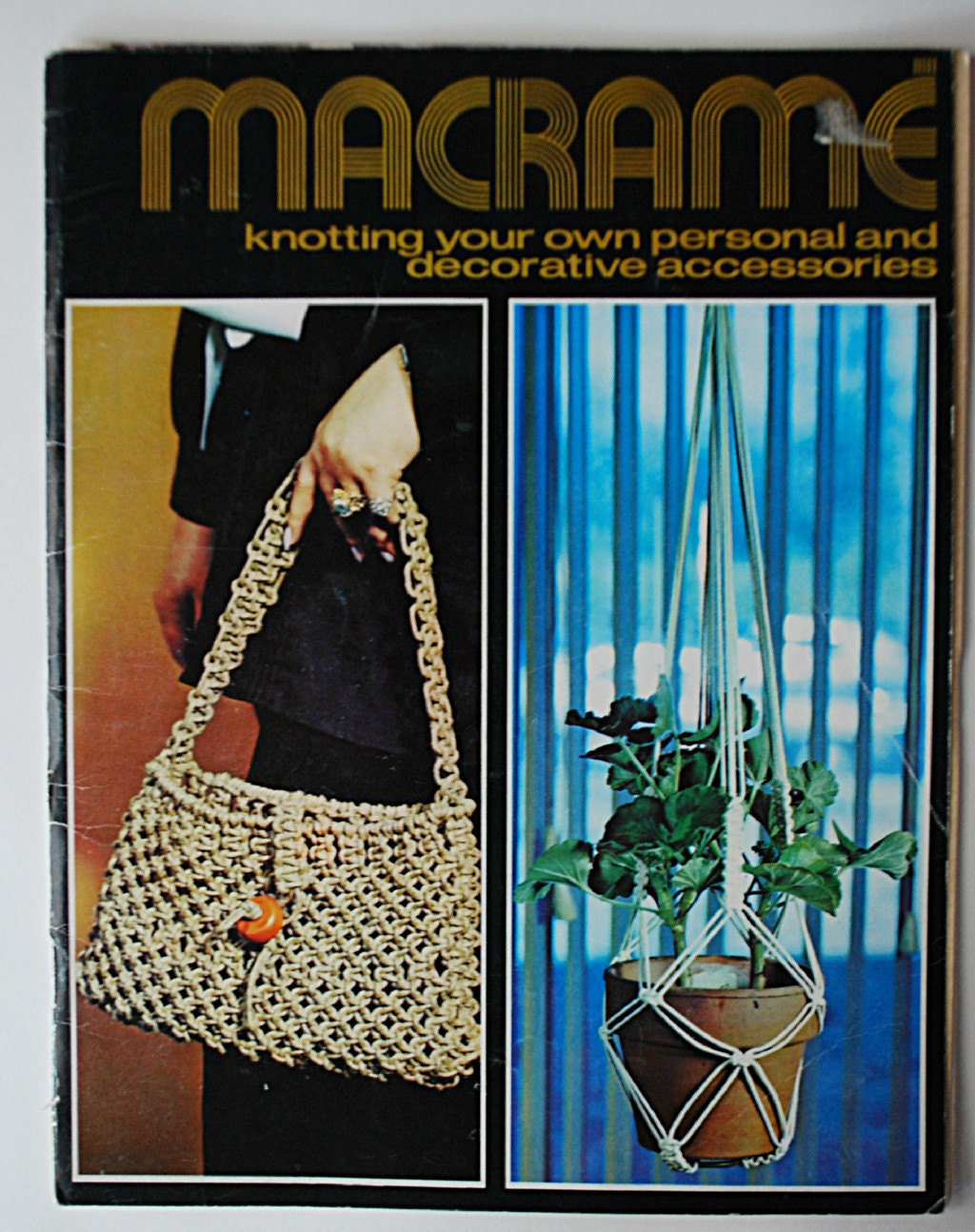 Vintage 1971 Macrame Crafting Book Accessories