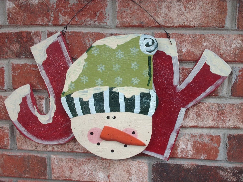Christmas Decor Snowman Joy Sign By Sassysoutherncharm On Etsy