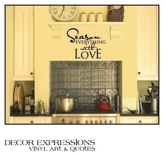 Vinyl Wall Art Decor Words Lettering Quote Decal Kitchen SEASON EVERYTHING WITH LOVE