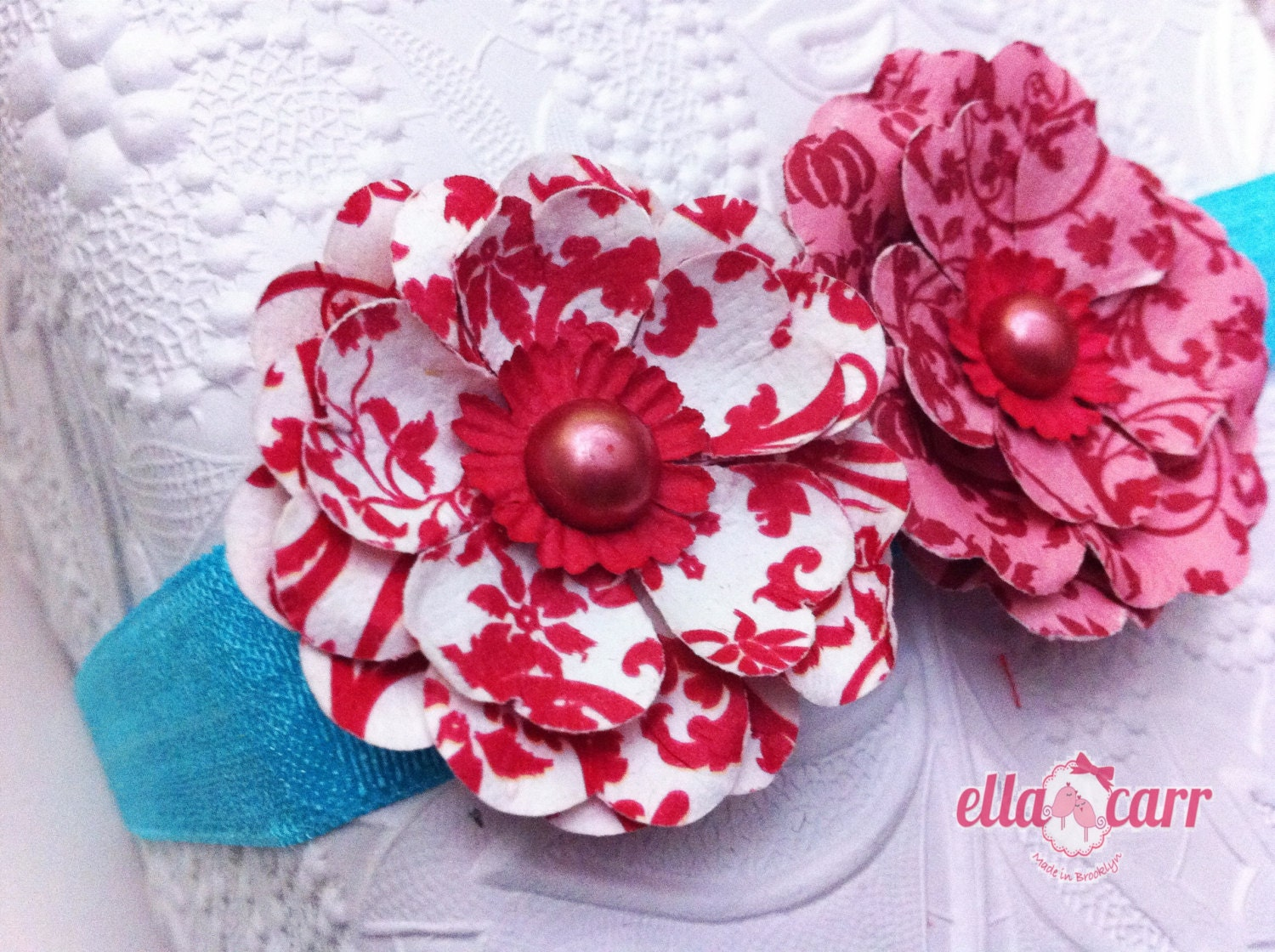 Fourth of July Flower Headband, 4th of July Headband, 4th of July Infant Headband - EllaCarrMadeInBklyn
