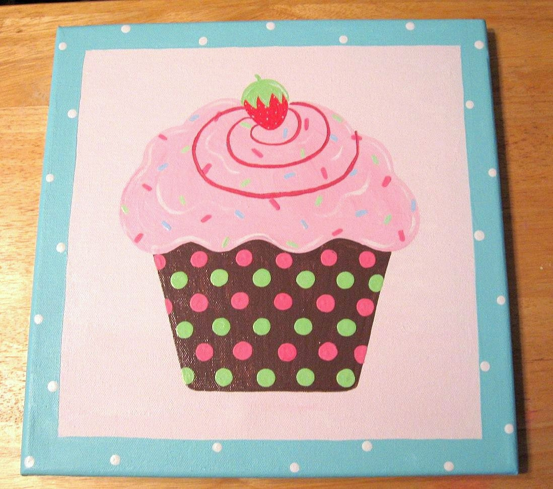 items similar to cupcake art room decor personalized on etsy