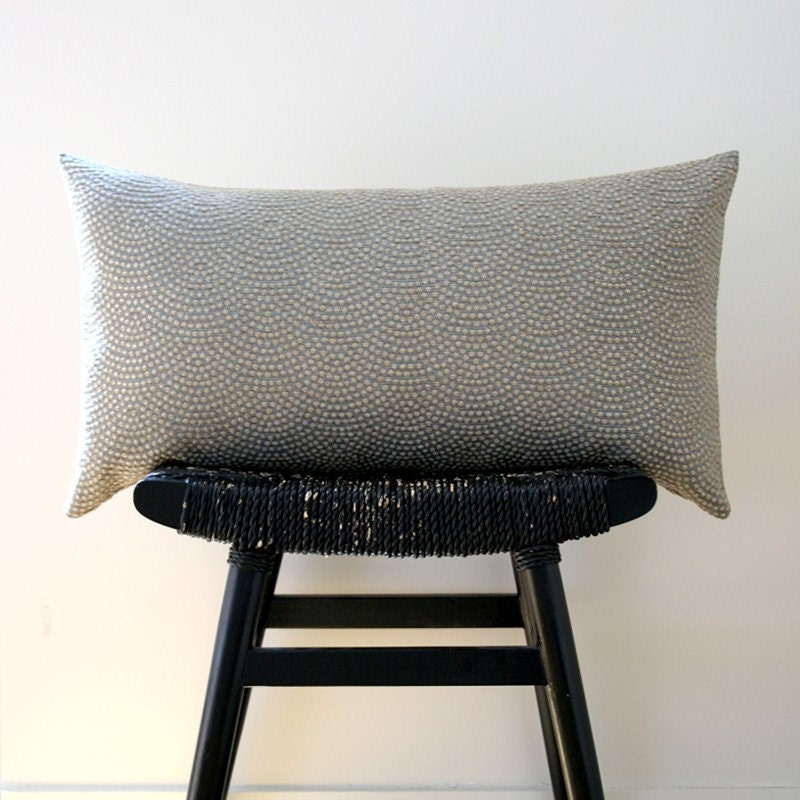 GREY PEBBLE BEACH Cotton Silk Cushion Cover 63 x 34 cm