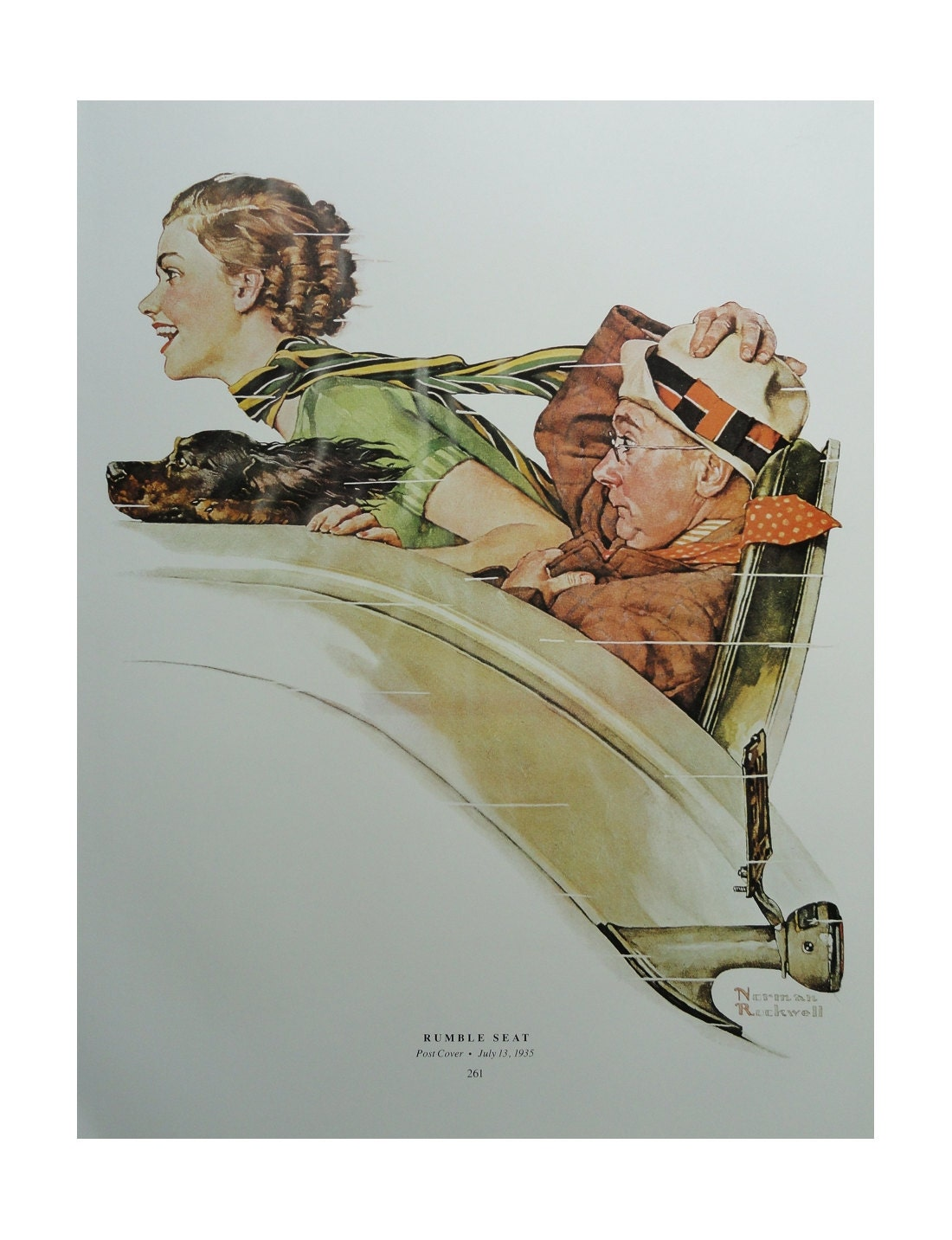 Rumble Seat Of The Car Date, School Days Teacher And Mother, Norman Rockwell