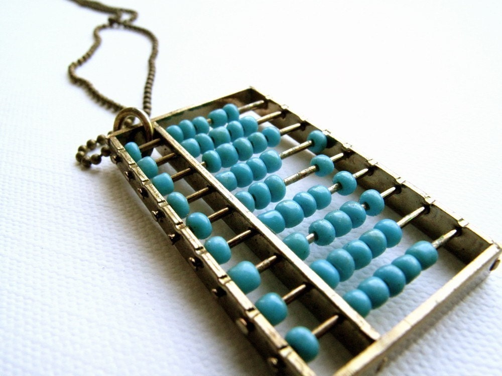 Light Blue Abacus Necklace