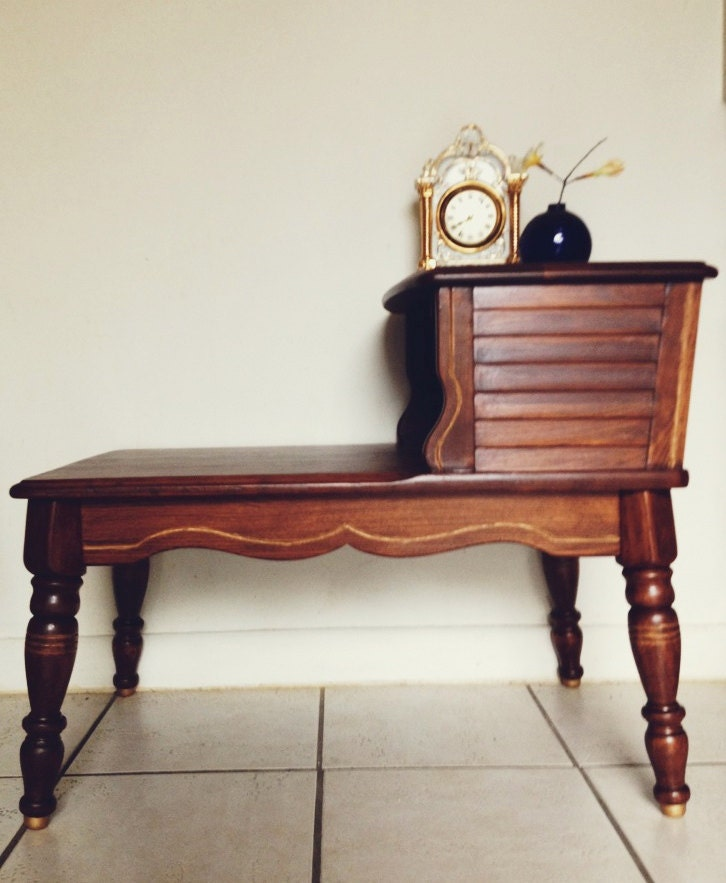 Vintage telephone table long side table ready to by for Long side table