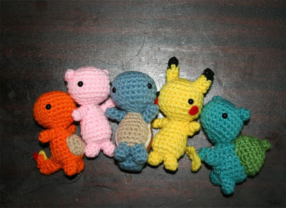 Crochet Patterns For Pokemon : 5 Set Crochet Pokemon by RoboticGorgon on Etsy
