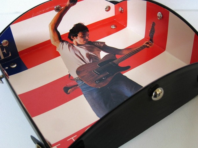 Bruce Springsteen Record Album Upcycled Valet, Catch All Tray