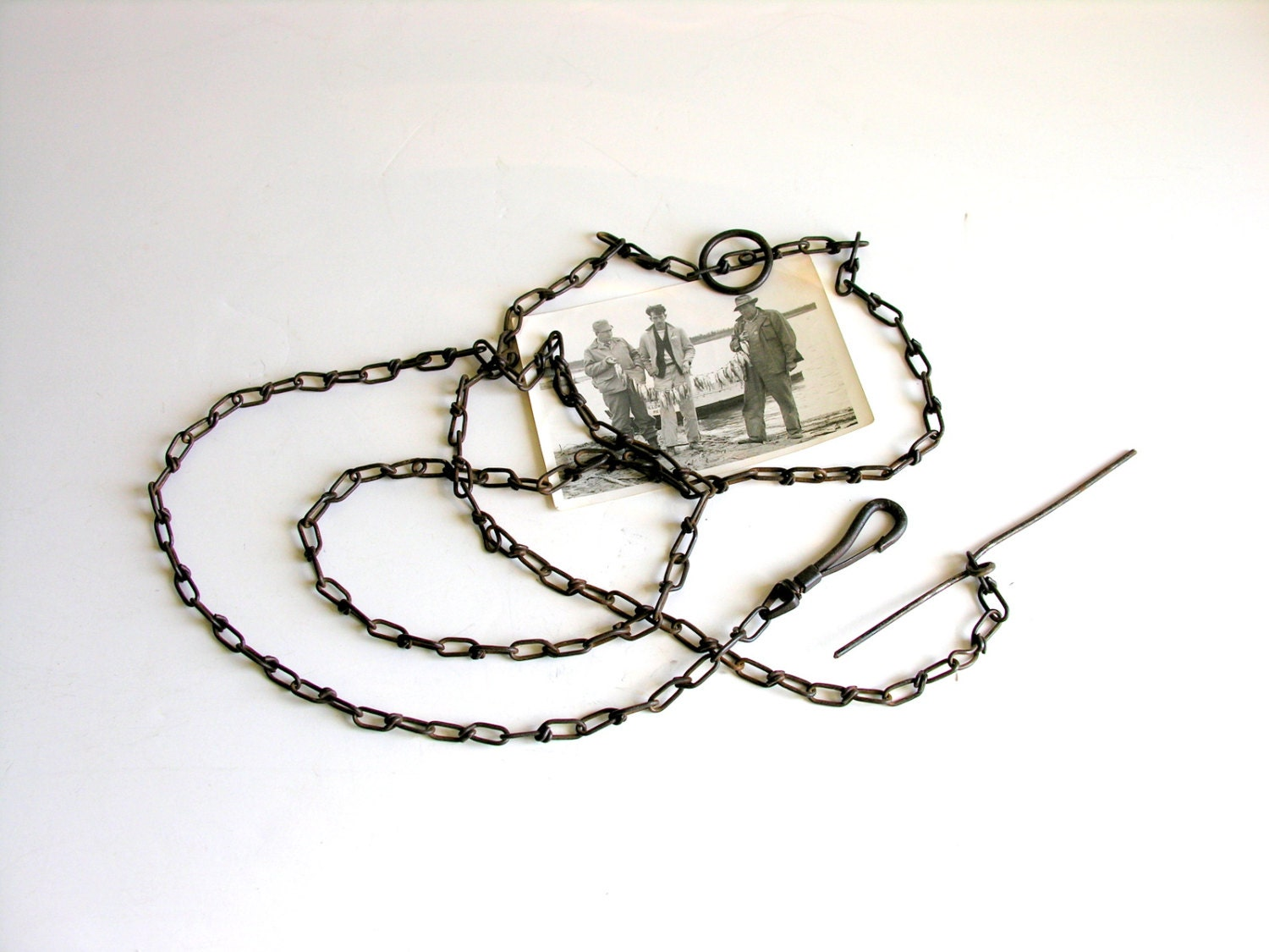 Fish stringer vintage chain clip fishing supply for by for How to use a fish stringer
