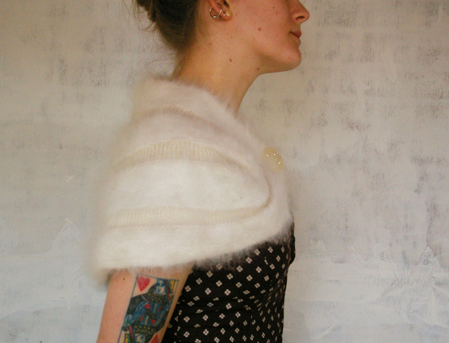 SUPER SOFT Vintage ANGORA Capelet by MariesVintage on Etsy