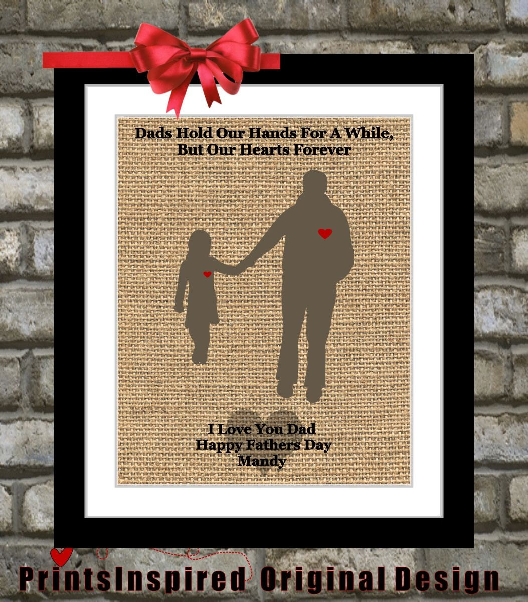 Gifts for dad daddy from daughter custom by printsinspired for Creative gifts for dad from daughter