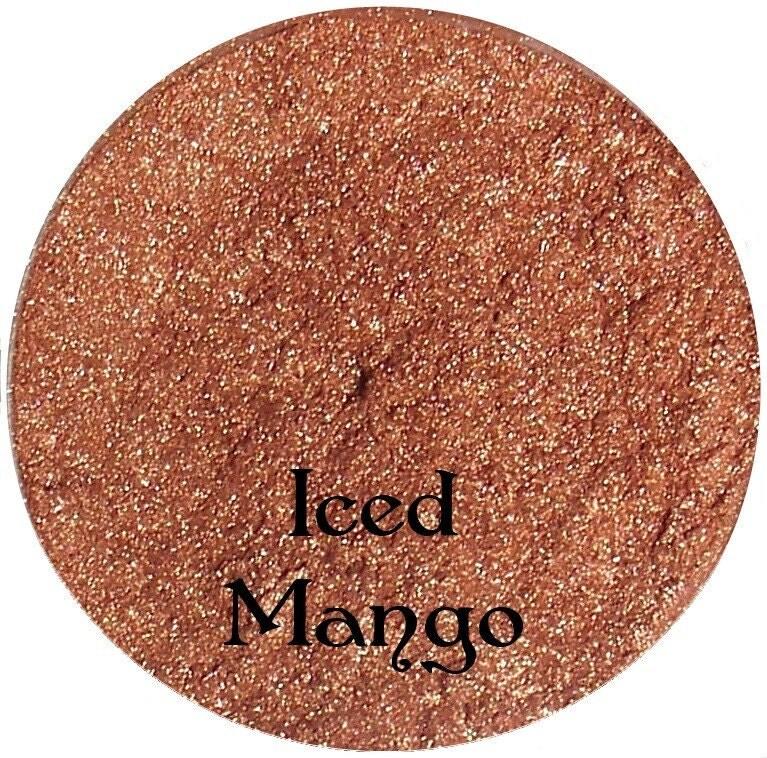 ICED MANGO Rosy Peach Mineral Makeup Eyeshadow Pigment 5 Gram Jar