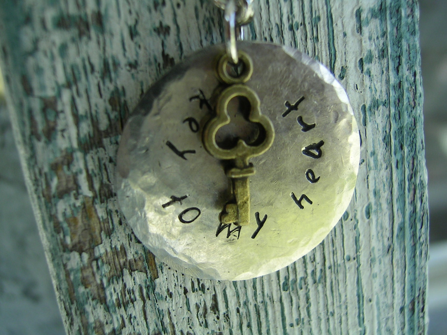 Key To My Heart Handstamped Necklace