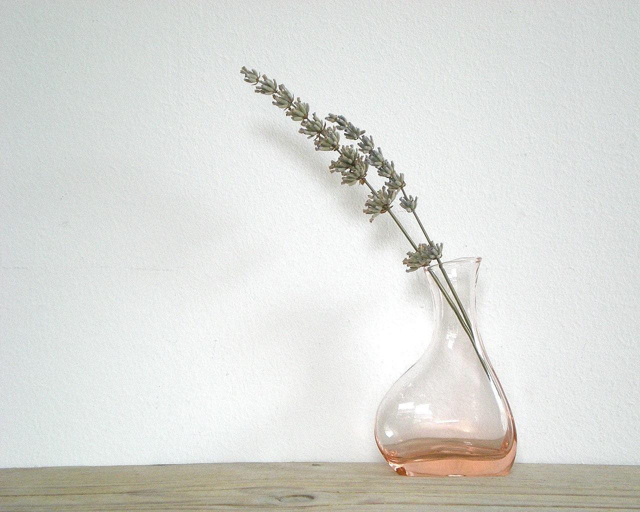 VINTAGE glass vase, pink vase, glassware, flower vase, pink glass - viadeinavigli