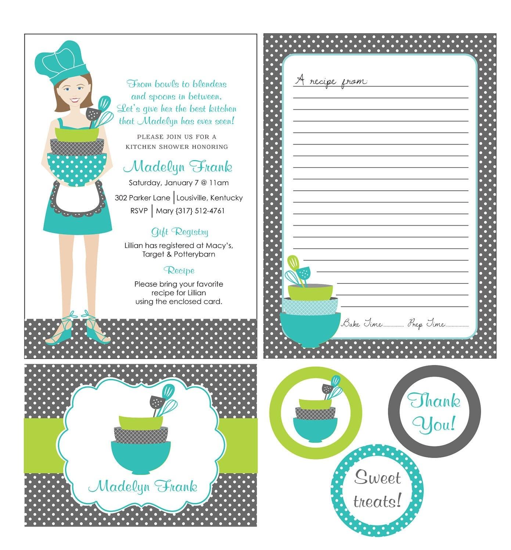 Invitaciónes te de cocina imprimibles - Imagui