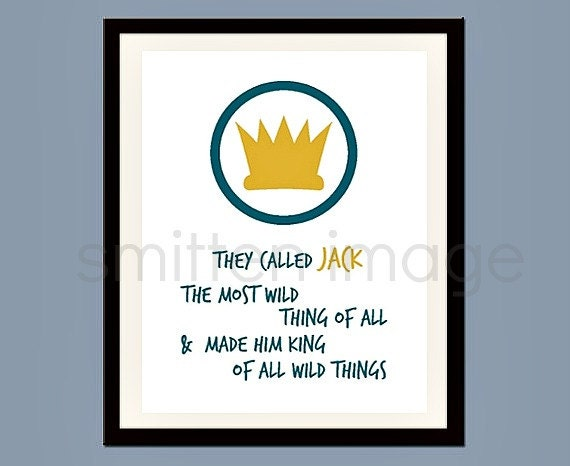 Wild Things Print 8 x 10 Personalized Wall Art