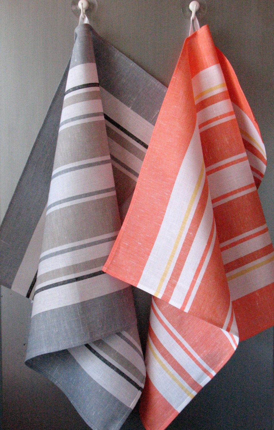 Linen Cotton Dish Towels - Tea Towels set of 2 - Coloredworld