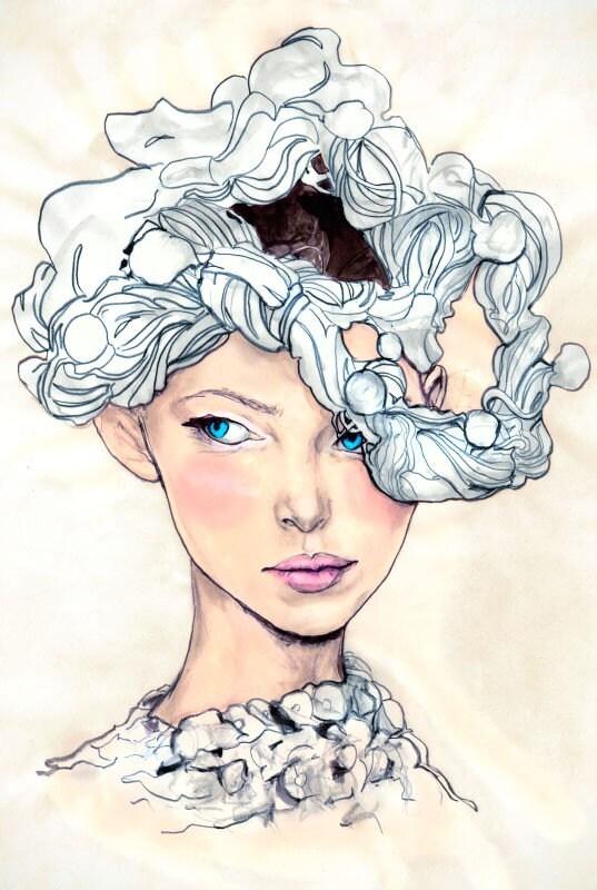 Danny Roberts Art Print of model Tanya Portrait