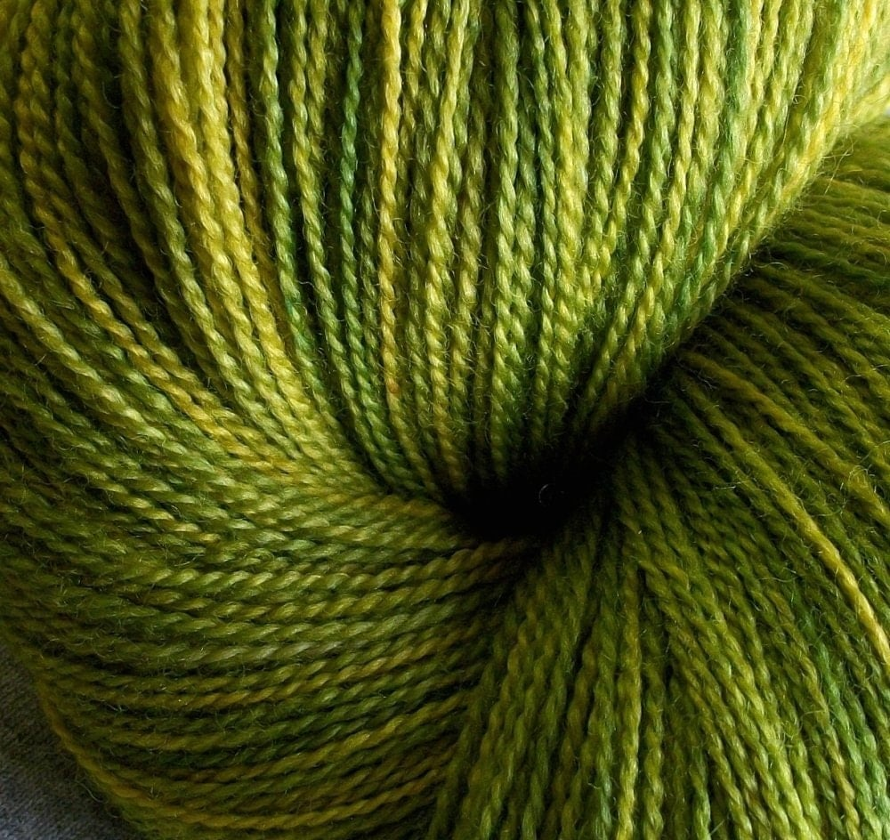 Lace weight - superwash merino and silk - New Grass