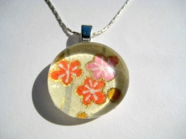Summertime Blossoms - Petite Pendant Necklace - $10