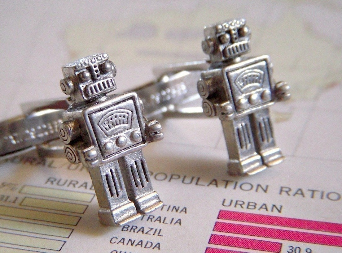 Robot Cufflinks Our Original Design Were Featured In Real Simple Magazine