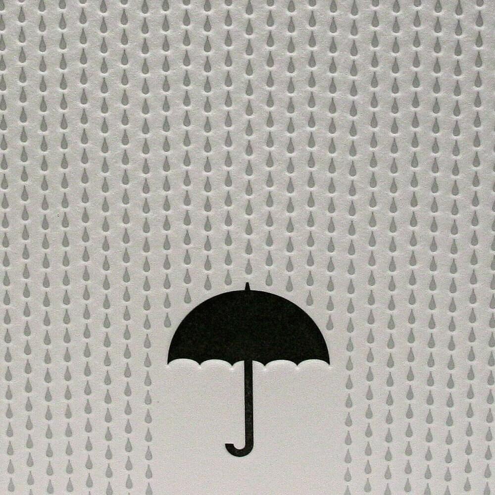 Rainy Day Letterpress Card in Black