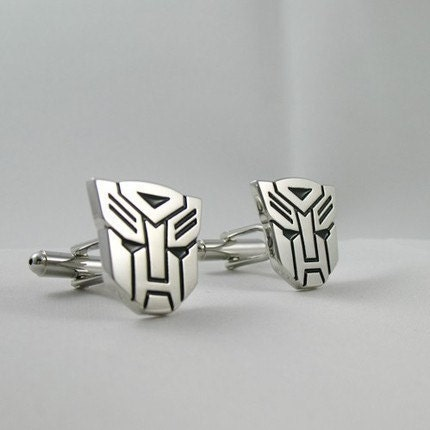 Copper Transformer Cufflinks- Autobot Optimus Prime,  with a Gift Box