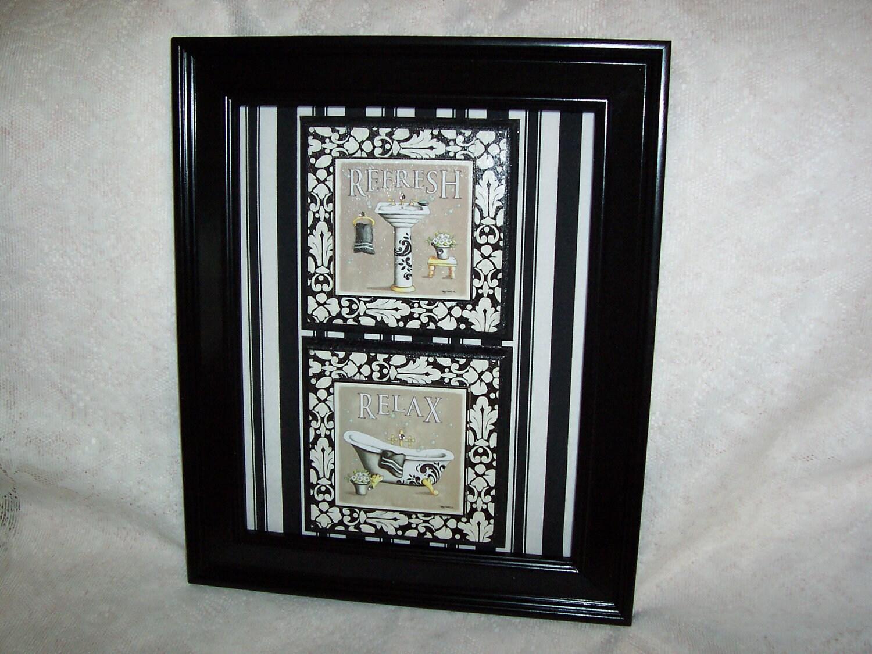 Black and cream paris bathroom wall decor by for Black and cream bathroom accessories