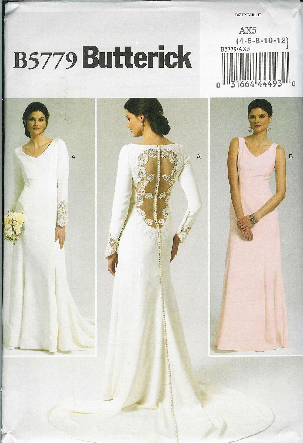 Butterick b 5779 sewing pattern wedding by patternsnew2u for Butterick wedding dress patterns