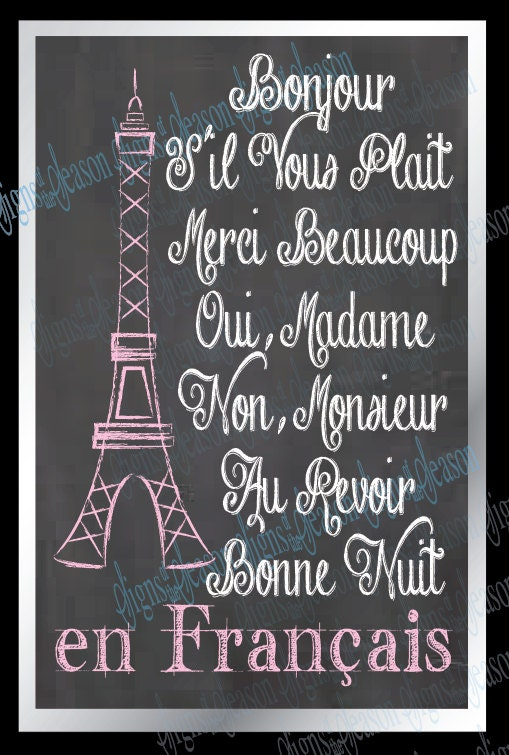 Friendship Quotes In French : French sayings eiffel tower paris by signsoftheseason