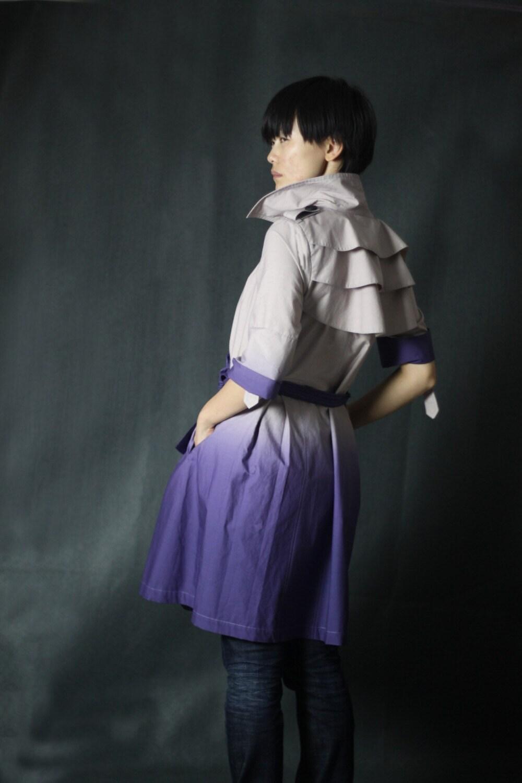Gradient purple trench
