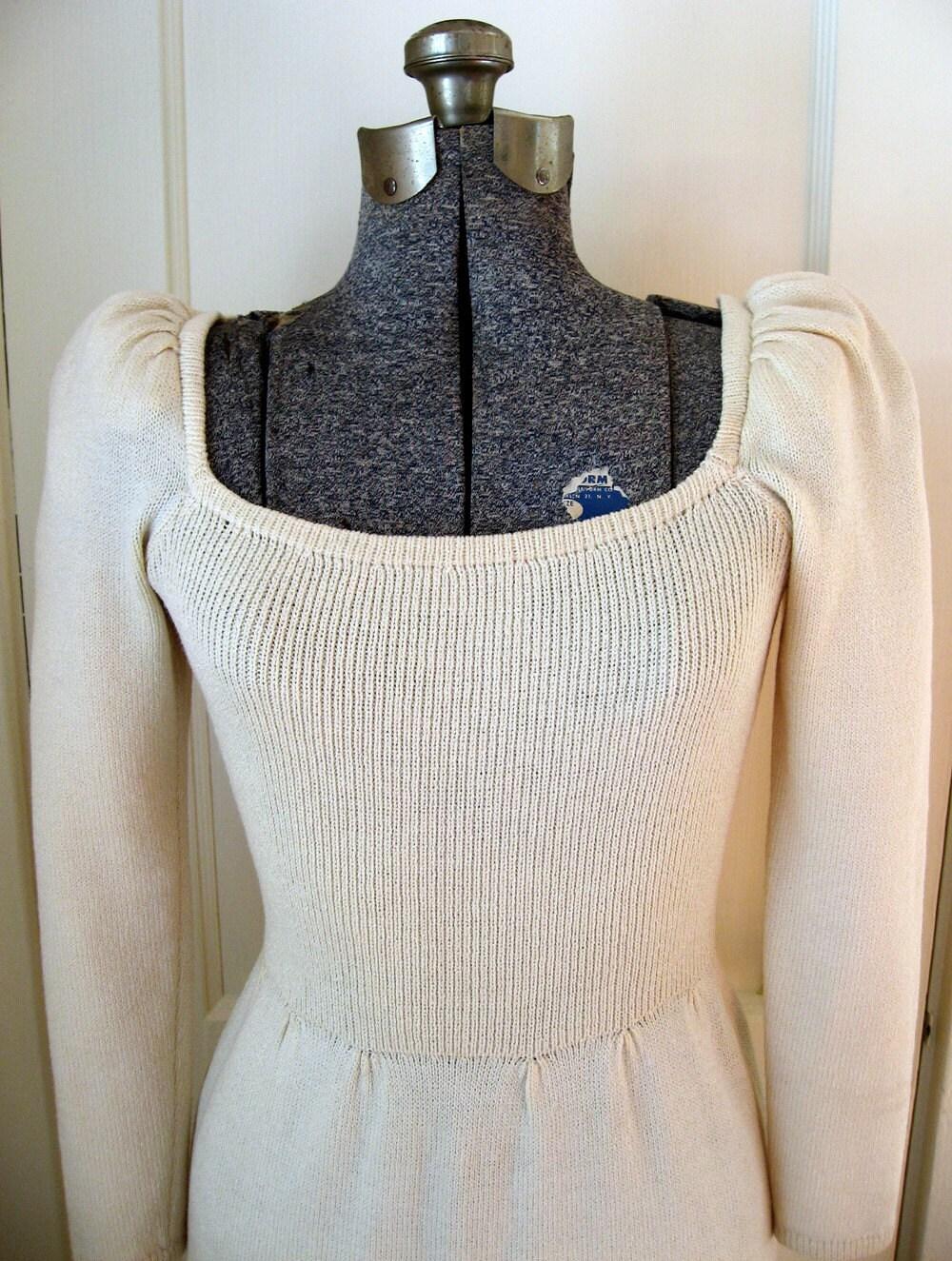 ivory cream st john by marie gray sweater dress