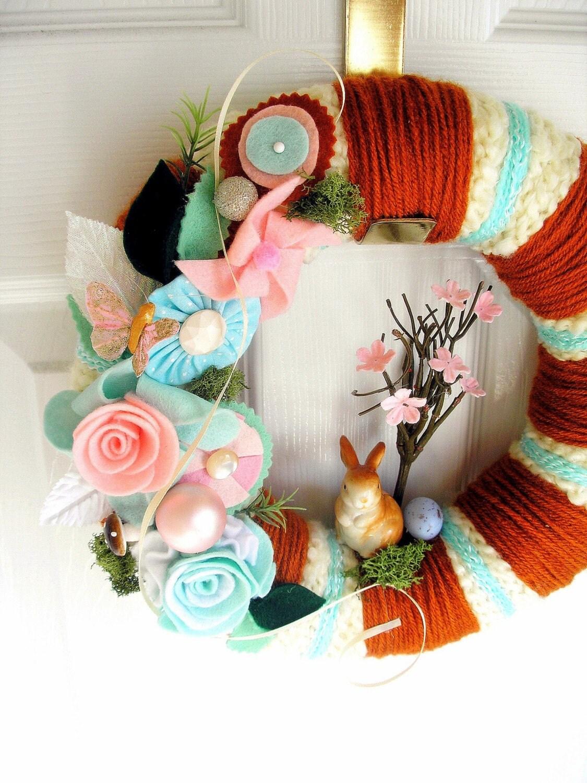 Mr. McGregor's Garden - Yarn Wreath